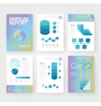 infographics brochure blue poly green vector image vector image