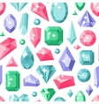 Jewelry stones seamless pattern expensive vector image vector image