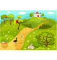 landscape card vector image vector image