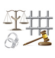 law icons 03 vector image vector image
