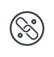 link glyph icon vector image vector image
