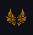 luxury golden triple feather wings vector image