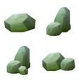 magic stone game icon set vector image vector image
