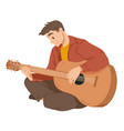 man playing guitar musician musical performance vector image