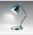 modern office table metal lamp vector image vector image