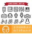 Music Line icons set 49 vector image vector image