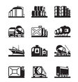 Oil tank terminals vector image vector image