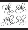 Ok word on white background hand drawn