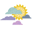 overcast day background cloudy with sun vector image vector image