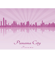 Panama City skyline in purple radiant orchid vector image vector image