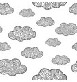 pattern with doodle clouds vector image