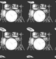 pattern with drum kit vector image