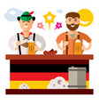 people at the beer festival in germany vector image vector image