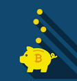 piggy bank for saving coins pig piggy bank with vector image vector image
