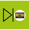 play music cassette tape vector image vector image