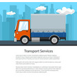 poster of small covered truck vector image