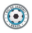 rio de janeiro brazil football emblem vector image