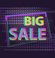 sale discount poster or banner with glitch text vector image vector image
