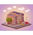 Scene of the urban street life vector image