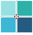 Sea pattern set background vector image