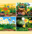 set background scene with nature theme vector image