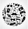 set fashionable mens accessories vector image