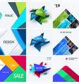 set of abstract design for graphic template vector image vector image