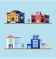 set of buildings vector image vector image