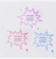 set of colorful speech bubbles with halftone vector image