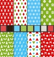 Set Seamless Textures for Winter Holidays vector image vector image