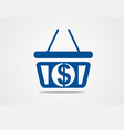 shopping bag money dollar logo vector image