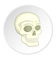 Skull icon isometric style vector image vector image