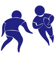 Sport icon for rugby in blue vector image vector image