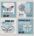 spring sale background banner vector image vector image