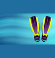 swimming flippers under water vector image vector image
