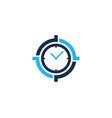 time target logo icon design vector image