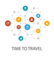 time to travel presentation template cover layout vector image vector image