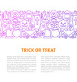 trick or treat line design template vector image vector image