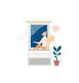 woman spending weekend at home vector image vector image