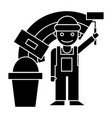 painter - builder icon black vector image