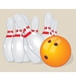 ball Realistic Bowling and vector image