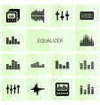 14 equalizer icons vector image vector image