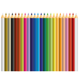 24 color pencil vector image vector image