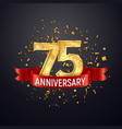75 years anniversary logo template on dark vector image