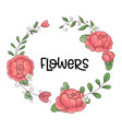a wreath of peonies hand-drawing vector image