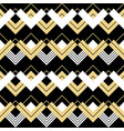 abstract geometric gold black and white pattern vector image