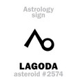 astrology asteroid lagoda vector image vector image