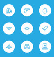 battle outline icons set collection of zoom vector image vector image