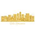 belo horizonte brazil city skyline golden vector image vector image