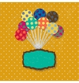 Birthday card with cute colorful balloons and vector image vector image